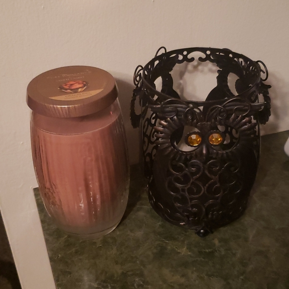 NWOT Yankee Candle with Owl Holder